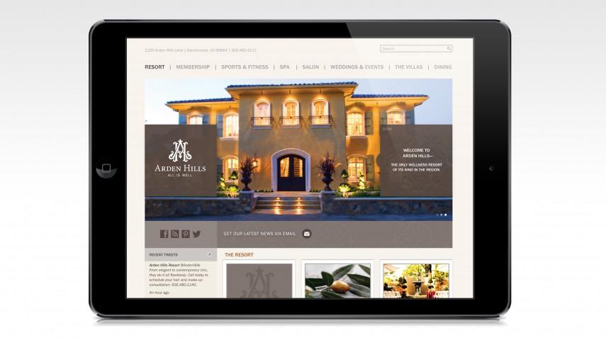 Arden Hills Resort and Spa | Web Development